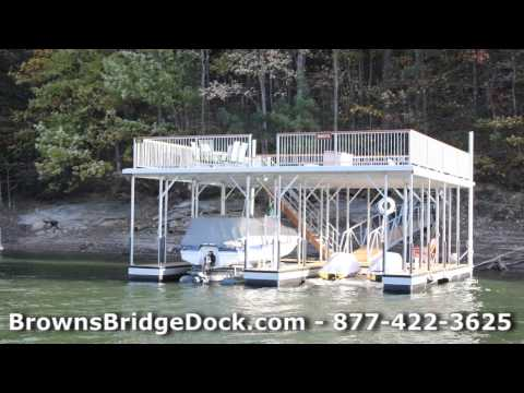 New Boat Dock Construction Lake Lanier Georgia