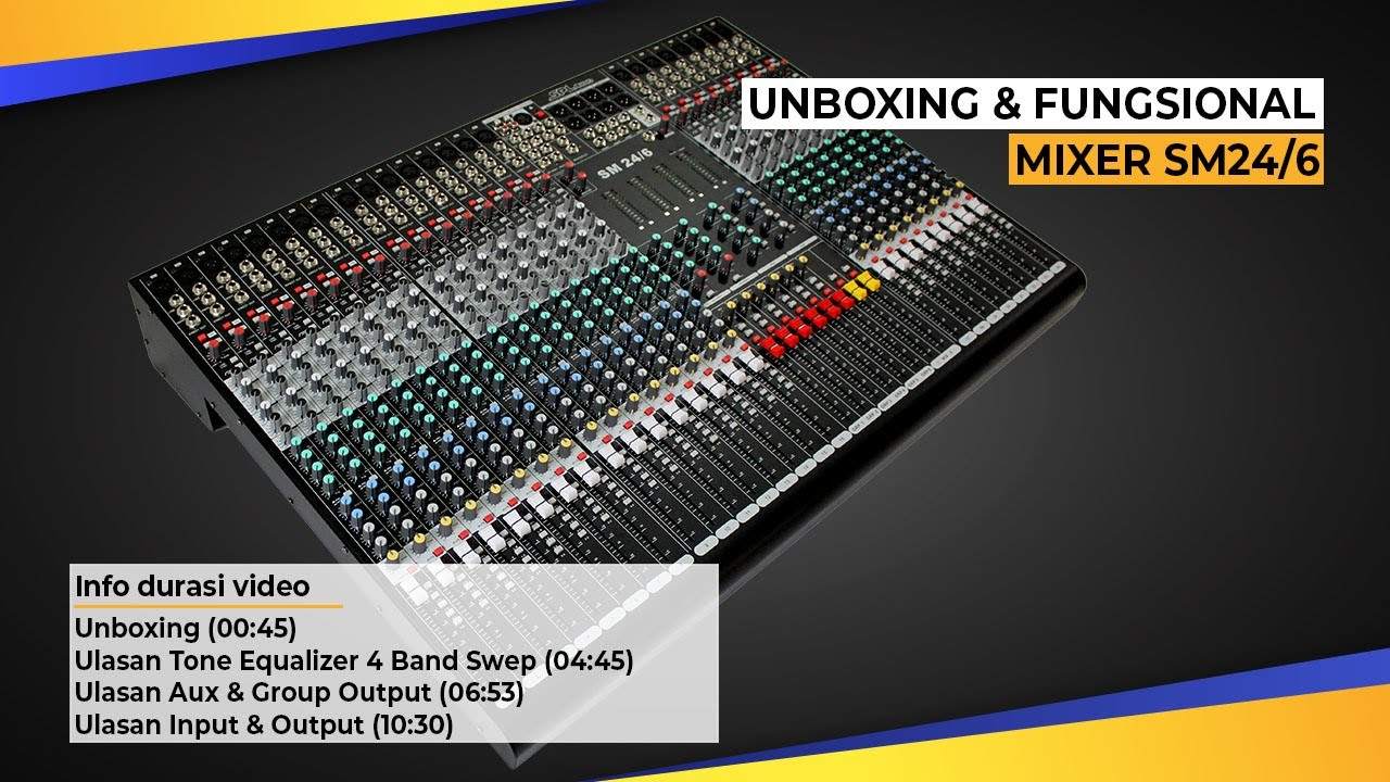 Review Mixing Console SPL Audio SM24/6