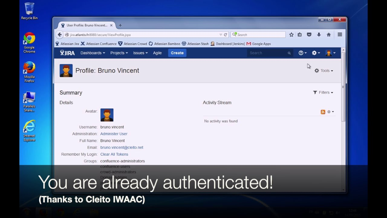Integrated Windows Authentication for Applications using Crowd