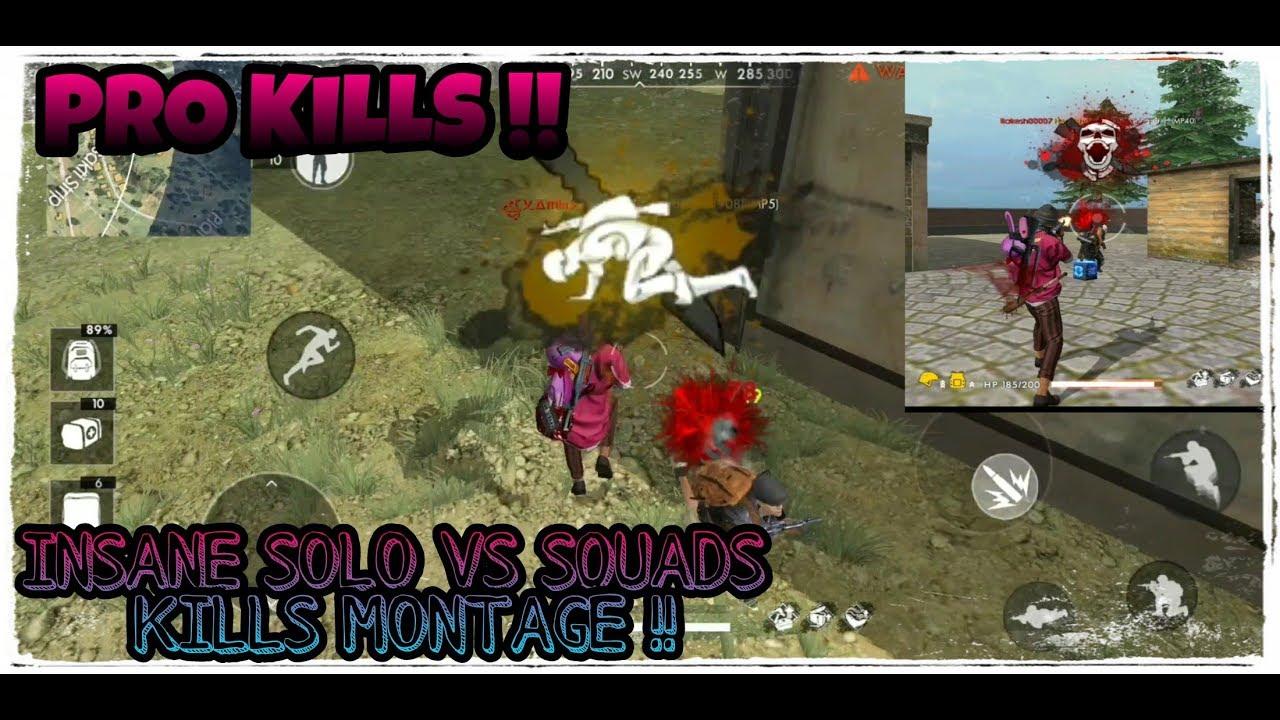 Insane Ranked Solo Vs Squads Kills Montage Best Of Rakesh00007 Free Fire Battlegrounds