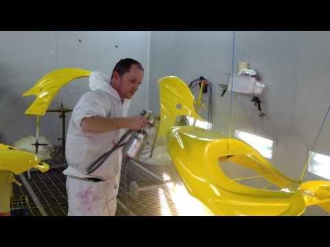 spraying parts of jet-ski