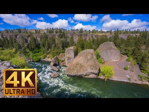 (7 hours) 4K Relax Video with Nature Sounds - Bowl and Pitcher Trail at Riverside State Park