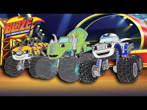 Blaze And The Monster Machines Color Episode Stripes Zeg