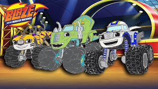 Blaze and the Monster Machines Color Episode Stripes Zeg Darington