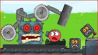 ПОПАЛИ В ЛОГОВО МЕГА-БОССА ! Красный Шарик - новая веселая игра ! Для детей !
