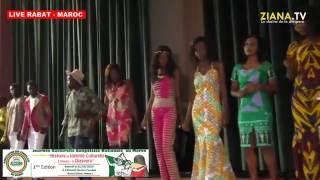 LIVE RABAT - MAROC.  Journée culturelle congolaise: Défilé de mode en tenues africaines