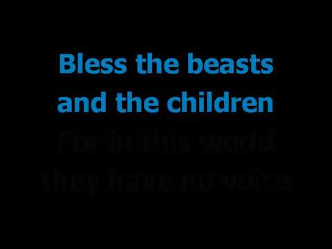 Bless the beasts and the children    The Carpenters    Karaoke    Lyrics Slow