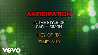 Carly Simon - Anticipation (Karaoke)