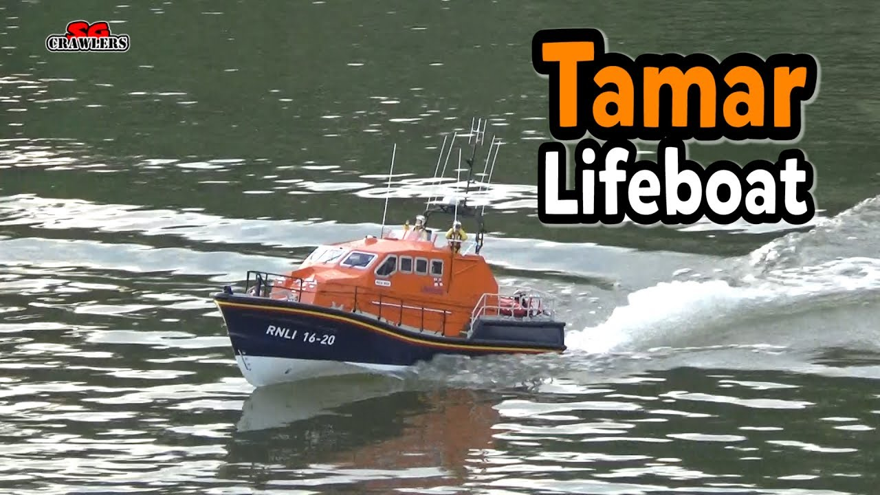 Lifeboat in action 1:16 Model Slipway Tamar Class Lifeboat RC boat - YouTube