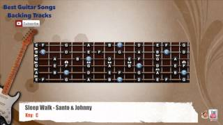 Sleep Walk - Santo & Johnny Guitar Backing Track with scale