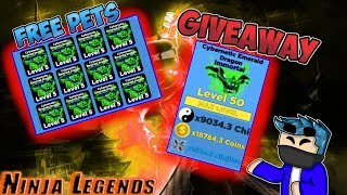 GIVEAWAY 50 PETS FOR FREE AT ONCE IN NINJA LEGENDS Roblox