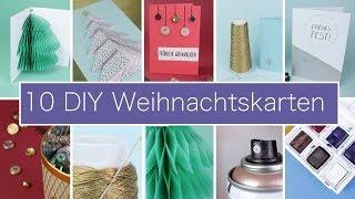 10 individuelle DIY Weihnachtskarten basteln | VERLOSUNG #WirMachenWeihnachten
