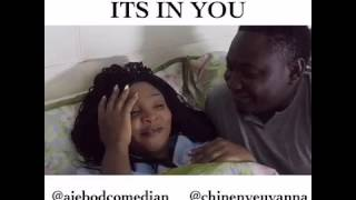 Ajebo comedian in bed with a....
