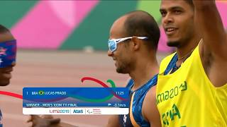David Brown and Jerome Avery Win Bronze In T11 100m| Parapan American Games Lima 2019