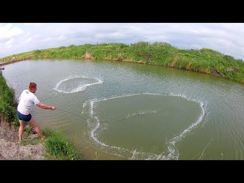 Casting net fishing