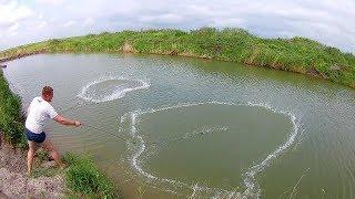 Casting net fishing Кастинговая сеть Американка Сазан и Учебные броски