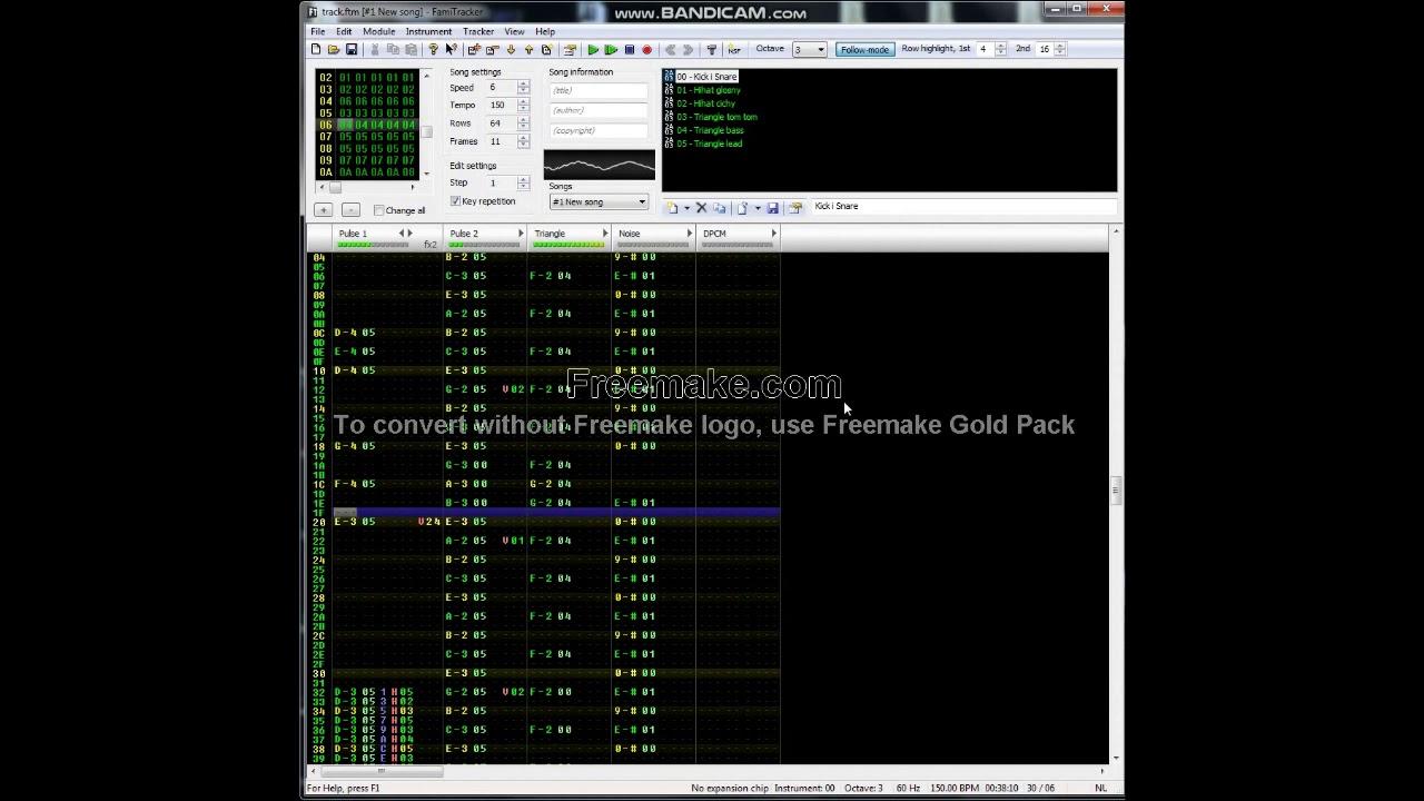 New famitracker tune (chiptune 8-bit) nes Nintendo Entertainment System  music