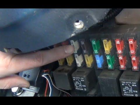 Замена предохранителя мотора печки и переключателя печки Chevrolet - Niva