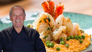 Wolfgang Puck's Tomato Risotto With Shrimp