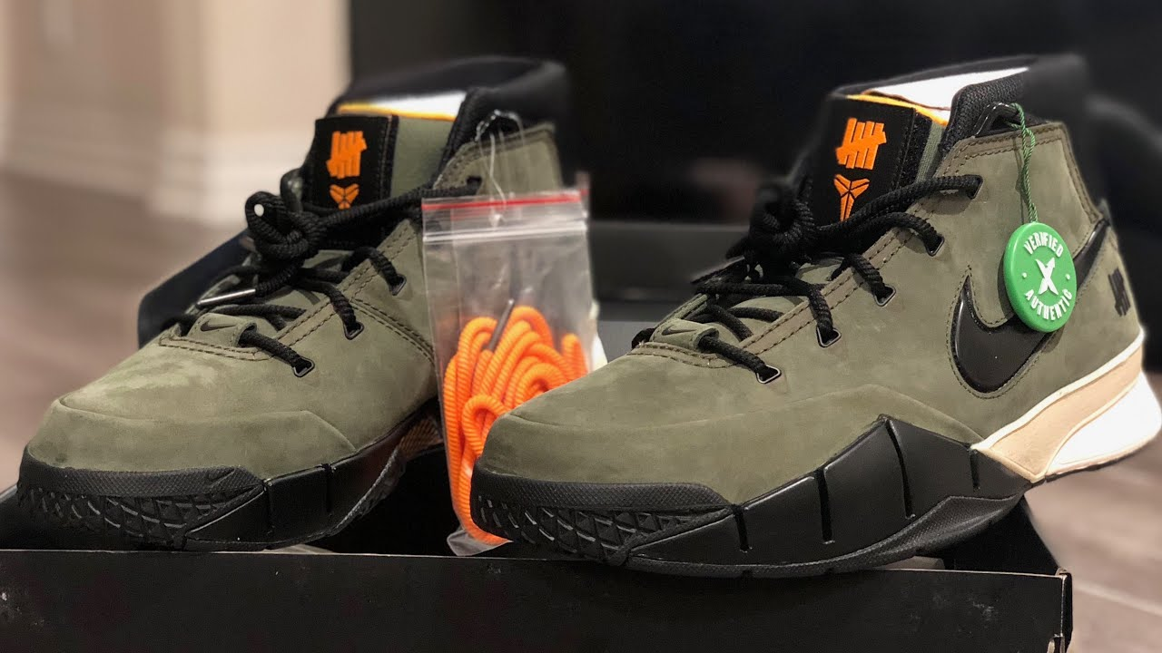 04fe7b2f325 Nike Kobe 1 Protro Undefeated Flight Jacket Olive Friends & Family Review  (10 Pairs Worldwide!)