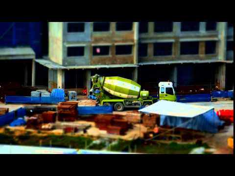 Singapore, Construction Site next to Kampung Lorong Buangkok, Cement Truck   Sony a6000 SEL18200
