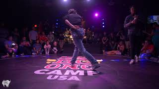 JK47 vs. MANTIS Bgirl FINAL RedBull BCONE Houston Dance Camp 2018   YAK BATTLES