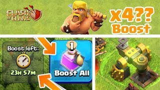 What Happens When u Use 2 Resource Portion on Same Time??(x4 boost) | Clash of Clans |