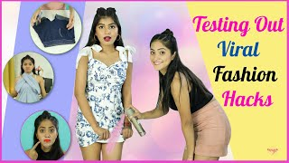 Testing Out Viral Fashion HACKS | Anaysa