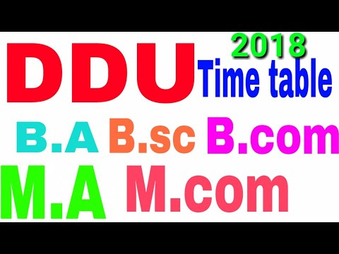 Ddu Gkp Time Table 2016 Pdf