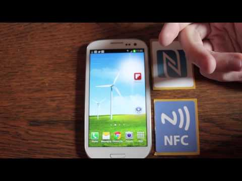 Samsung Galaxy S3 NFC Near Field Communication Demonstration