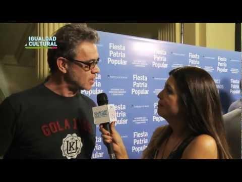 Entrevista exclusiva a Jean Pierre Noher. #IgualdadCultural presente en la Fiesta Patria Popular