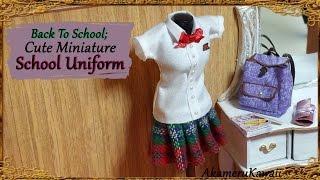 Back To School; Cute Miniature School Uniform