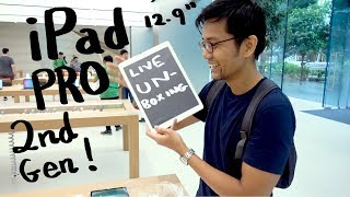 Gambar cover iPad Pro 12.9 inch unboxing at the Singapore Apple Store in Orchard Road