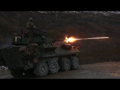 US Marines LAV-25 M242 Bushmaster 25mm Tracer Live Fire