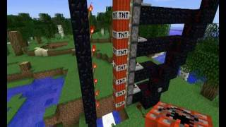 mega TNT cannon usİng pistons MINECRAFT