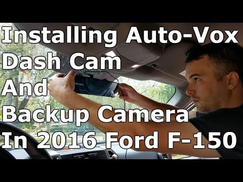 Backup Camera & Dash Cam Install 2016 Ford F150 (AutoVox M6 From Amazon)