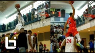"""5'10"""" Carlee Clemons SHUTS DOWN Triad All-Star Dunk Contest: Windmills Over His Mom! thumbnail"""