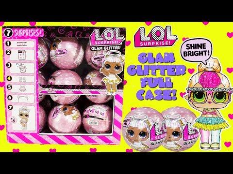 LOL Surprise Glam Glitter Series FULL CASE Cupcake Kids Club