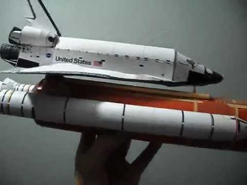 Papercraft discovery space shuttle paper model