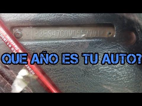 Como identificar el año de un carro con el numero de serie VIN