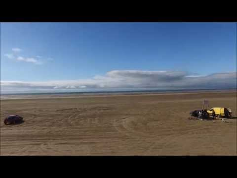 Ainsdale Beach, Southport with a drone