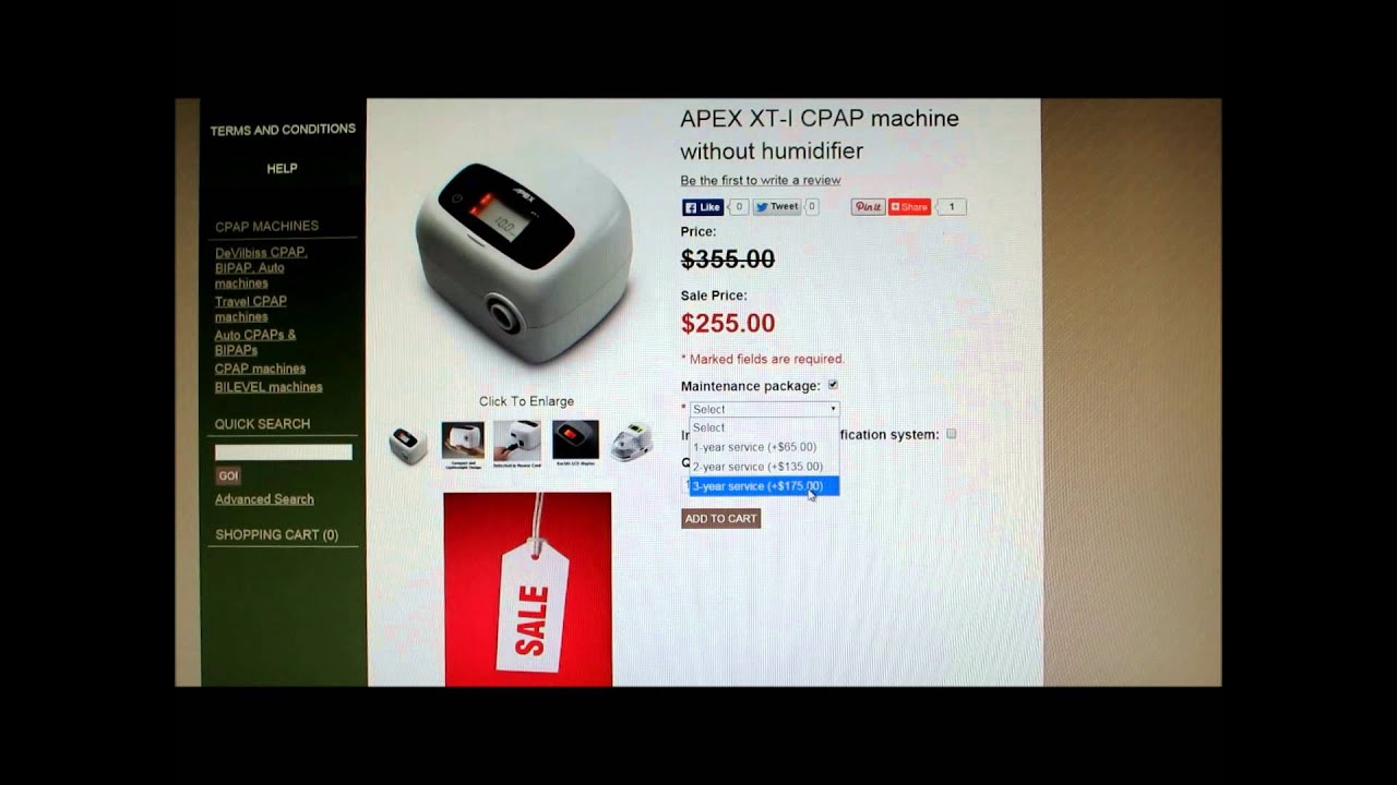 How to buy CPAP machine on www.mmcpap.com - YouTube