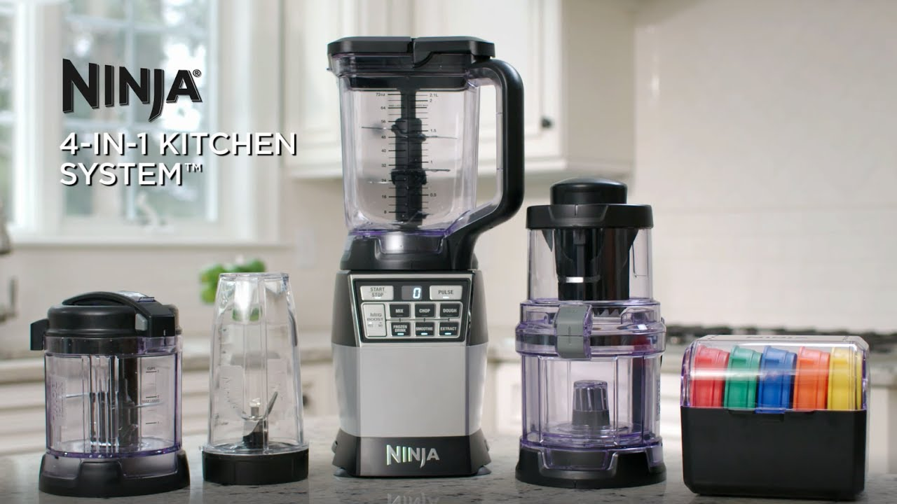 A Powerful Ninja 4 In 1 Kitchen System That Blends Chops