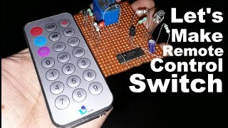 Video Let's Make Remote Control ON/OFF Switch making | control fan and light using tv remote download MP3, 3GP, MP4, WEBM, AVI, FLV September 2018