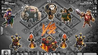 Hybrid mal anders rum! - RH9 Titan vs. maxed RH10 - Clash of Clans | little mc t
