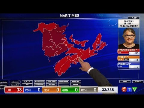 Election 2015: A look at the projected Liberal surge in Atlantic Canada