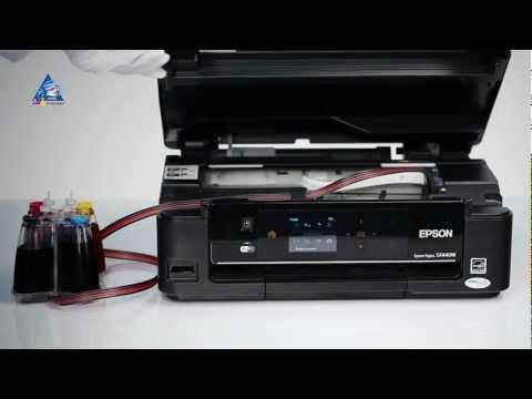 Установка СНПЧ на принтер Epson Stylus SX440W