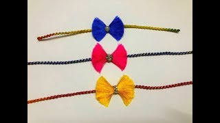 How To Make Beautiful Rakhi At Home | DIY | Rakhi Making Ideas For Raksha Bandhan