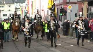 Fastnacht Mainz 2013 - Parade der närrischen Garden - Schwarze Husaren