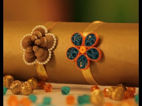 Hobby Ideas : DIY Quilling Craft – Rakhi Making with Quilling